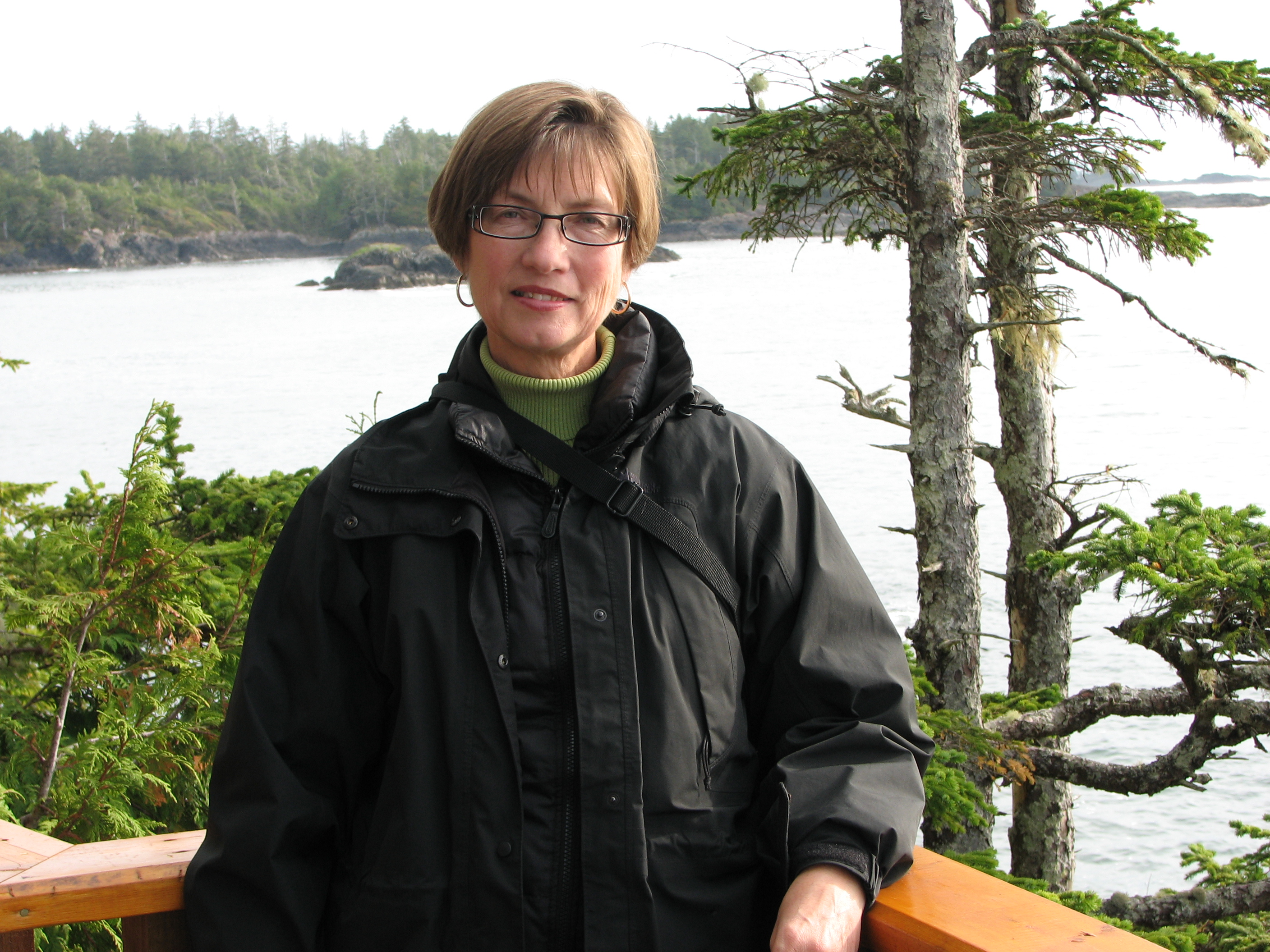 Anne Bowen in Tofino