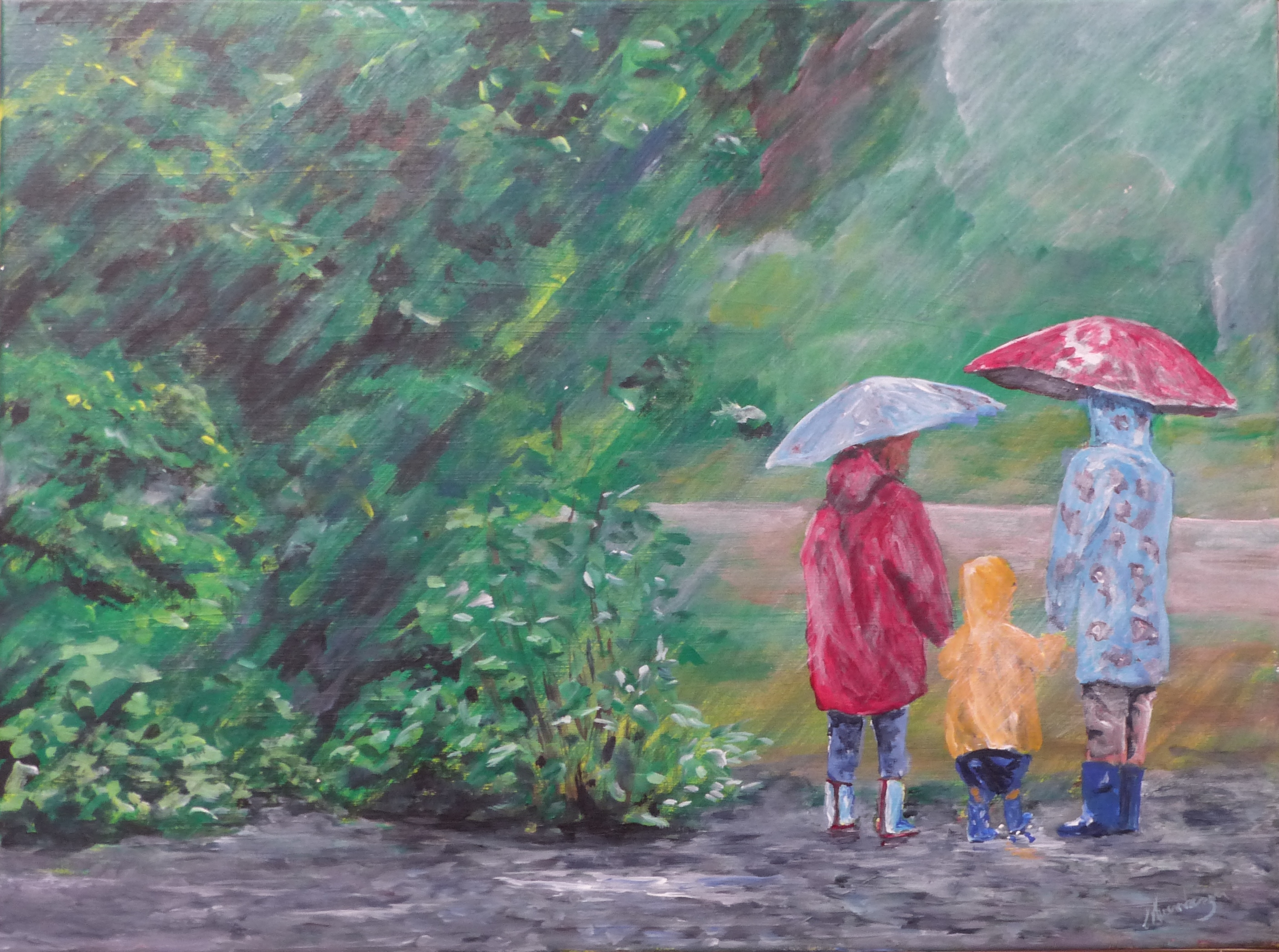 Carol Nuernberger.Waiting for the School Bus
