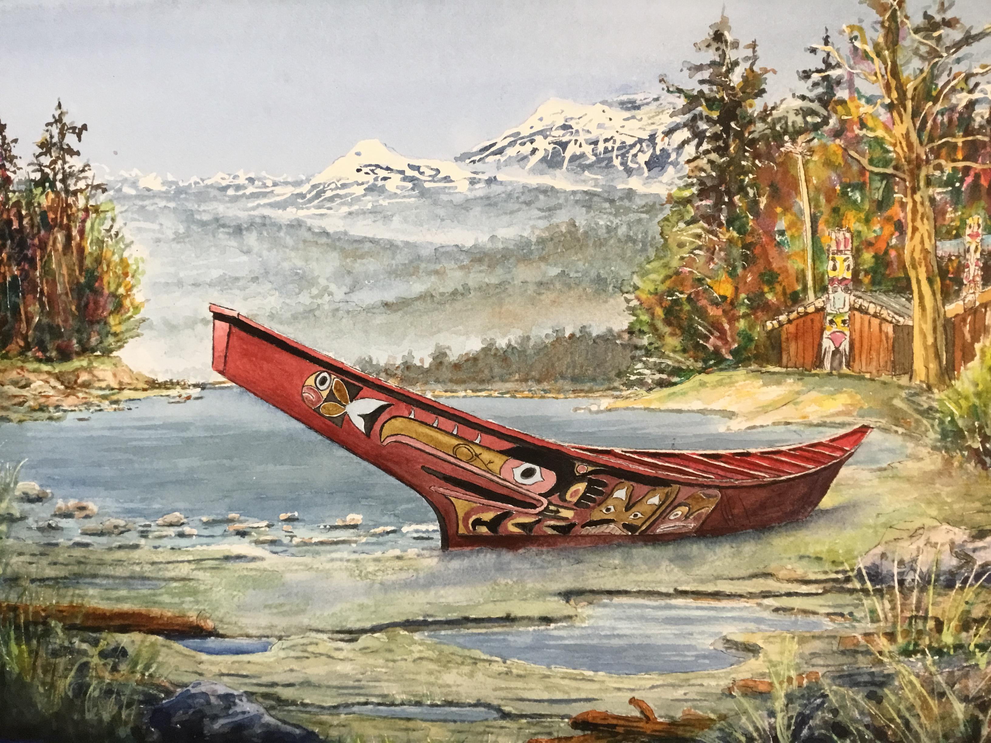 Haida Indian Canoe